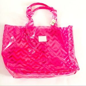 NWT Pink Victoria 's Secret Large Beach Bag🏖